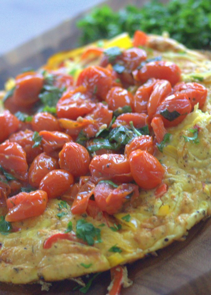 Frittata with Roasted Cherry Tomato Sauce | www.thebahamallama.wordpress.com