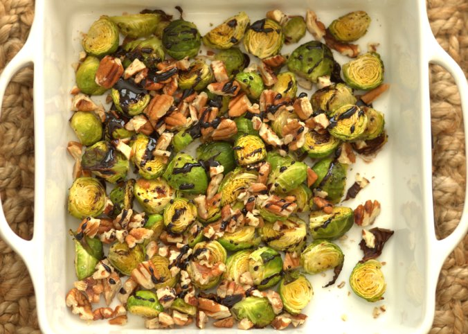 Balsamic Roasted Brussels Sprouts | www.thebahamallama.com