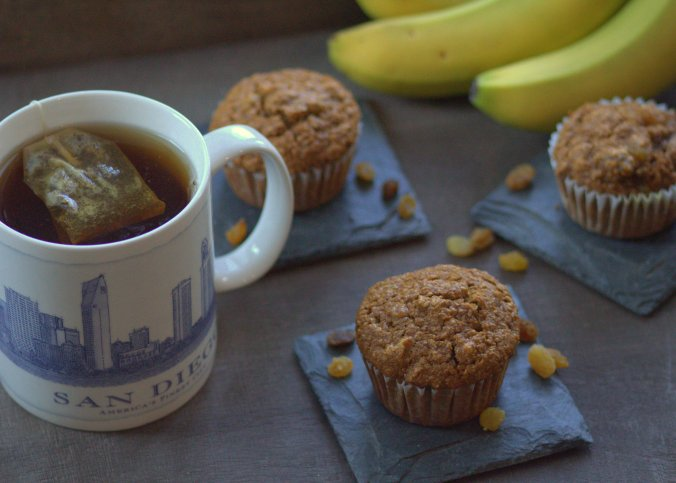 Ina Garten's Chunky Banana Bran Muffins - a warm treat for a cold morning!