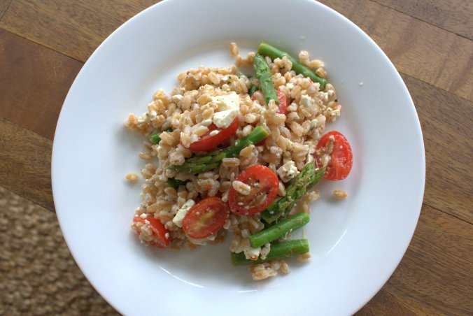 Farro Salad with Asparagus and Tomatoes