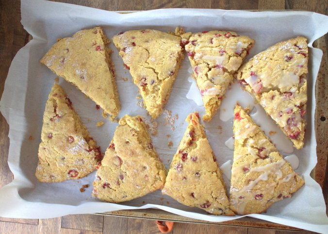 Lemon Cranberry Scones with Lemon Glaze | www.thebahamallama.com
