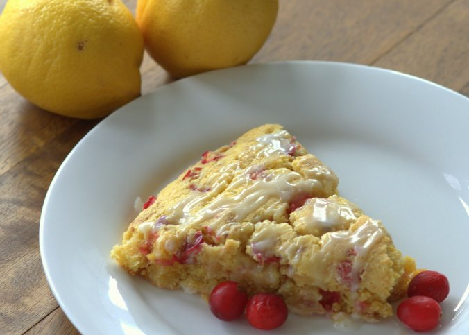 Lemon Cranberry Scones with Lemon Glaze | www.thebahamallama.com