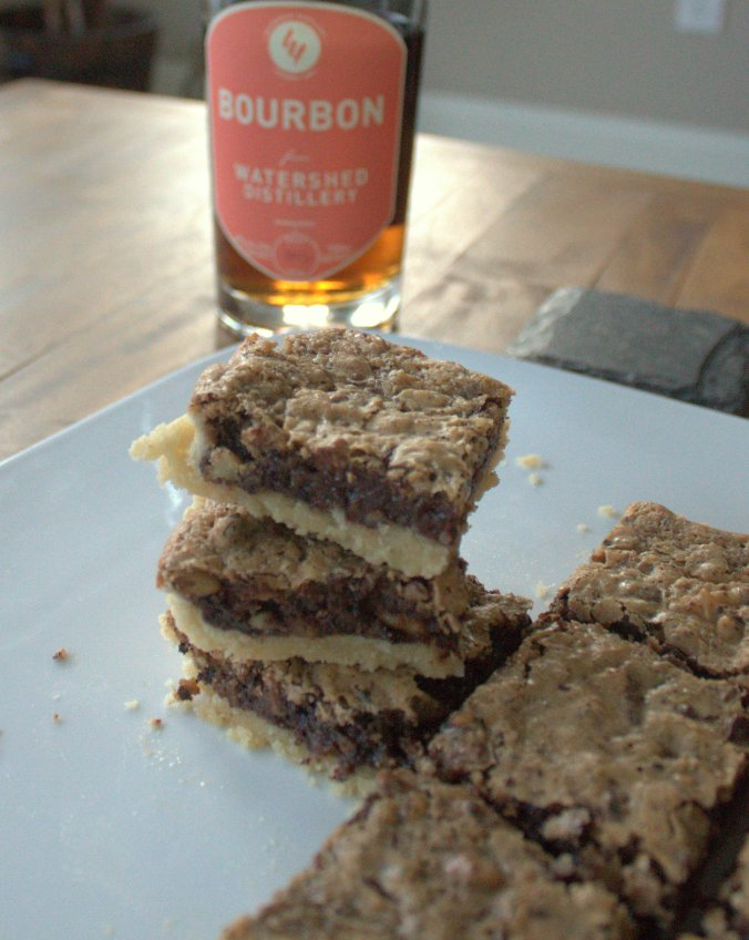 Bourbon Chocolate Walnut Bars | www.thebahamallama..com