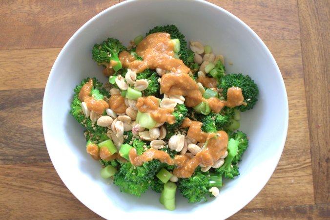 Broccoli with Peanut Sauce | www.thebahamallama.com